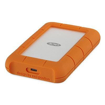 Image of LaCie Rugged Secure 2 TB 2.5 external hard drive USB-C™ Silver, Orange STFR2000403