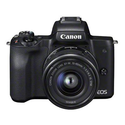 Canon EOS M50 Digital Camera with 15-45mm Lens - Black