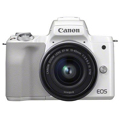 Canon EOS M50 Digital Camera with 15-45mm Lens - White