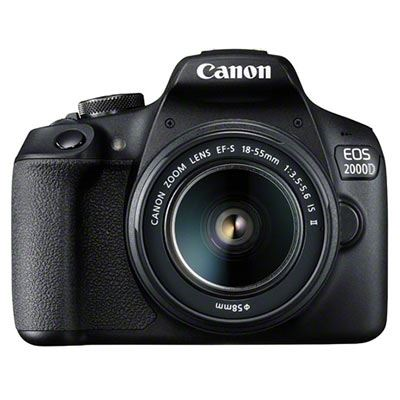 Image of Canon EOS 2000D Digital SLR Camera with 18-55mm IS II Lens