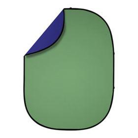 Interfit 1.5 x 2m Pop-Up Reversible Background - Chroma Green / Chroma Blue