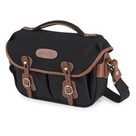 Billingham Hadley Small Pro - Black Canvas / Tan