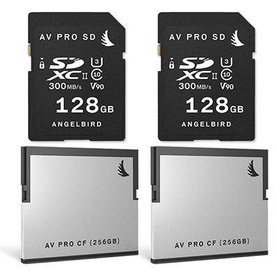 Image of Angelbird AVpro MATCH PACK for BMD URSA mini Pro (2x CFast 2.0 256GB and 2x SDXC 128GB)