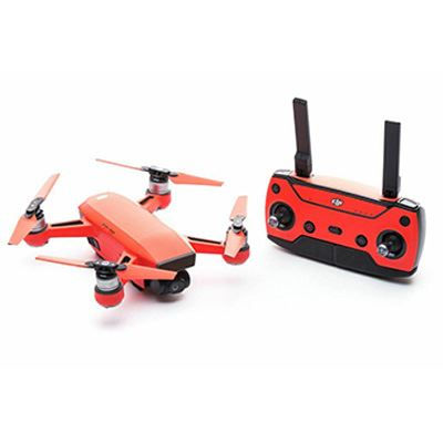 Modifli DJI Spark Drone Skin Vivid Molten Red Propwrap™ Combo
