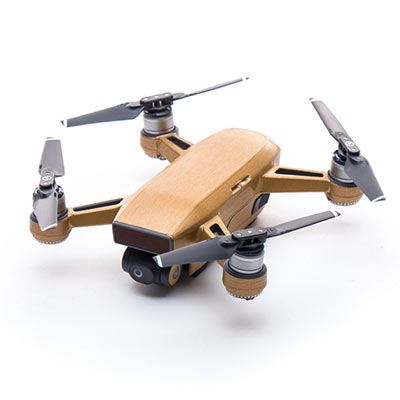 Image of Modifli DJI Spark Drone Skin Metal Brushed Gold