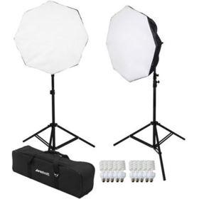 Used Westcott Basics D5 2-Light Daylight Octabox Kit
