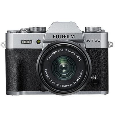 Fujifilm X-T20 with XC 15-45mm Lens - Silver