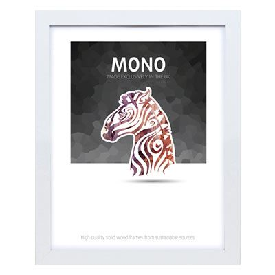 Ultimat Mono - White 10x8 Readymade Frame