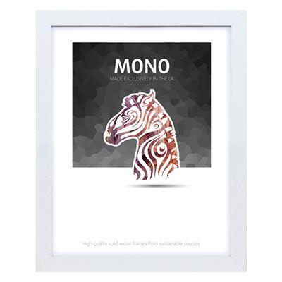 Ultimat Mono - White 14x11 Readymade Frame