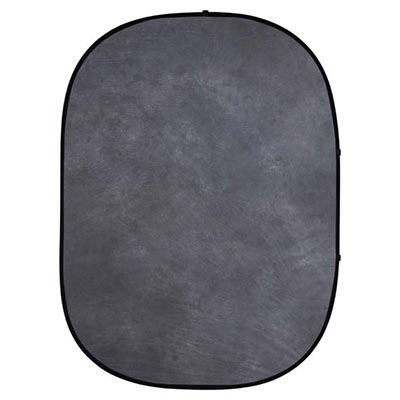 Image of Interfit 5 x 6.5ft Pop-Up Background - Grey Muslin