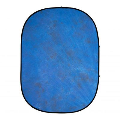 Interfit 5 x 6.5ft Pop-Up Background - Blue Muslin
