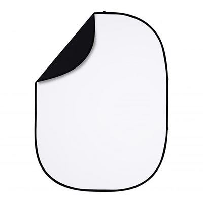 Interfit 5 x 6.5ft Pop-Up Reversible Background - Black / White