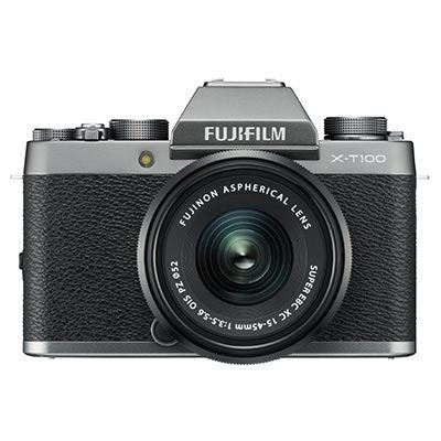 Fujifilm X-T100 Digital Camera with 15-45mm XC Lens - Dark Silver