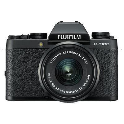 Fujifilm X-T100 Digital Camera with 15-45mm XC Lens - Black
