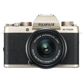 Fujifilm X-T100 Digital Camera with 15-45mm XC Lens - Champagne Gold