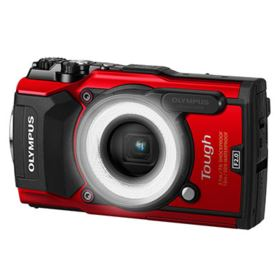 Olympus Stylus Tough TG-5 Digital Camera - Red with LG-1 LED Light Guide