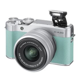 Fujifilm X-A20 Digital Camera with 15-45mm XC Lens - Mint Green