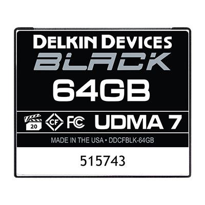 Image of Delkin BLACK 64GB UDMA 7 160MB/s Compact Flash Card