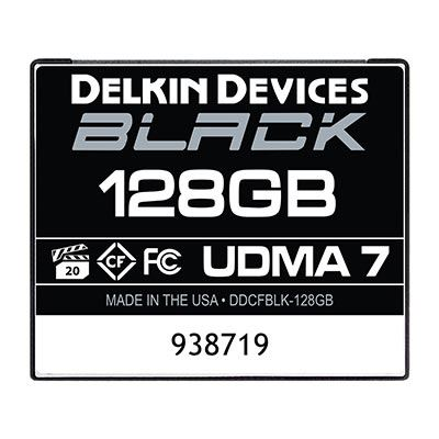 Image of Delkin BLACK 128GB UDMA 7 160MB/s Compact Flash Card