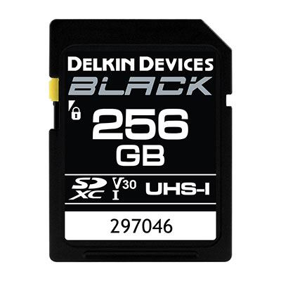 Delkin BLACK 256GB UHS-I V30 U3 90MB/s SDXC Card