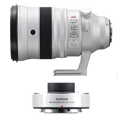 Fujifilm 200mm f2 XF R LM OIS WR Fujinon Lens with 1.4X XF TC f2 WR Teleconverter