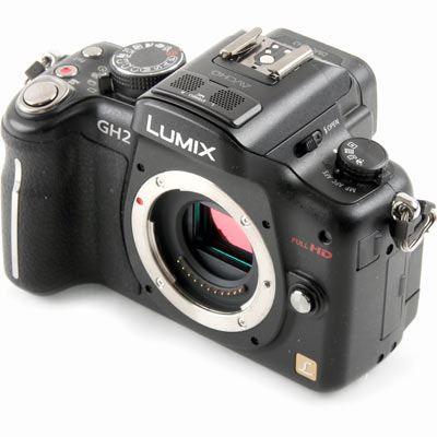 Used Panasonic LUMIX DMC-GH2 Black Digital Camera