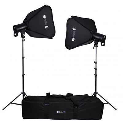 Interfit LM8 100W LED Monolight Softbox Twin-Kit