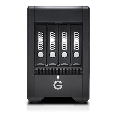 Image of G-Technology G-SPEED Shuttle 4Bay Thunderbolt 3 20TB w/ev Series Bay Black EMEA
