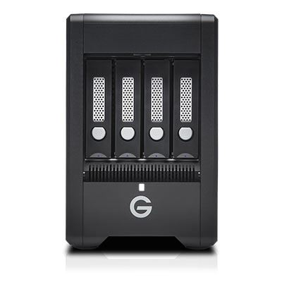 Image of G-Technology G-SPEED Shuttle 4Bay Thunderbolt 3 SSD 8000GB Black EMEA