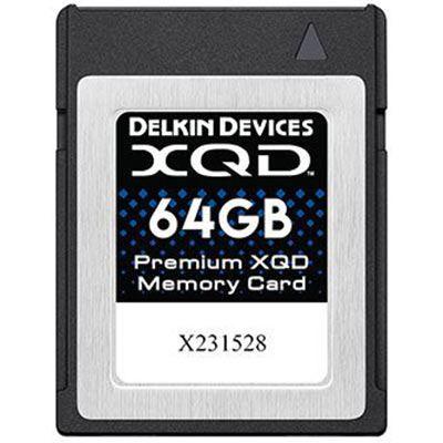 Delkin 64GB Premium XQD Memory Card (Read 440MB/s and Write 400MB/s)