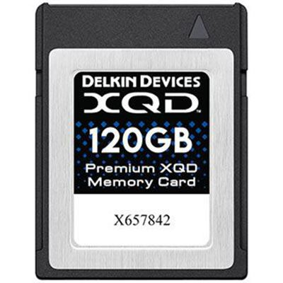 Delkin 120GB Premium XQD Memory Card (Read 440MB/s and Write 400MB/s)
