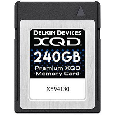 Image of Delkin 240GB Premium XQD Memory Card (Read 440MB/s and Write 400MB/s)