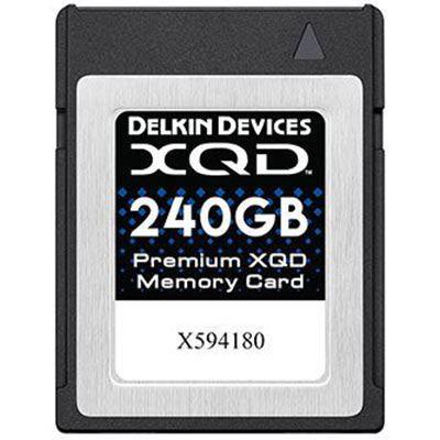 Delkin 240GB Premium XQD Memory Card (Read 440MB/s and Write 400MB/s)