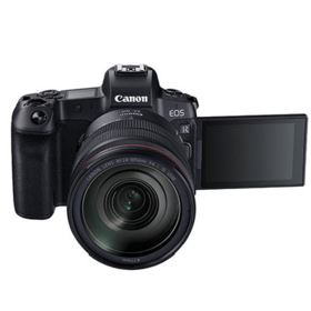 Canon EOS R with 24-105mm + Adapter