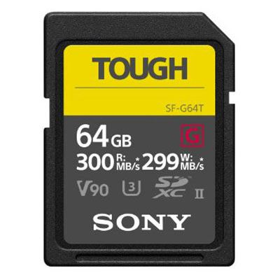 Image of Sony G Series TOUGH 64GB UHS-II 299MB/Sec SDXC Card