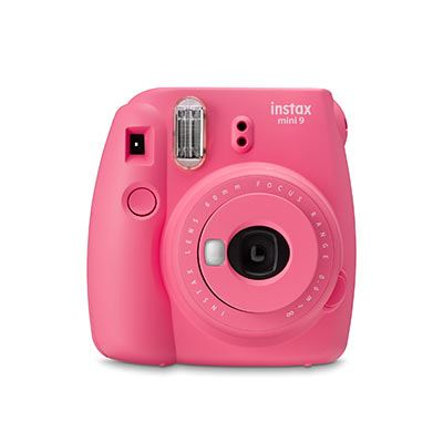 Image of Fujifilm Instax Mini 9 Instant Camera with 10 shots - Flamingo Pink