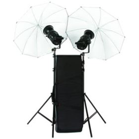 Used Bowens Gemini 400Rx Twin Head Umbrella Kit