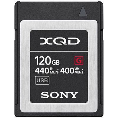 Image of Sony 120GB XQD Flash Memory Card - G Series (Read 440MB/s and Write 400MB/s)