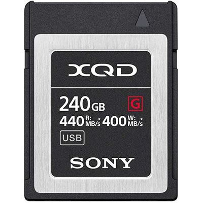 Sony 240GB XQD Flash Memory Card - G Series (Read 440MB/s and Write 400MB/s)