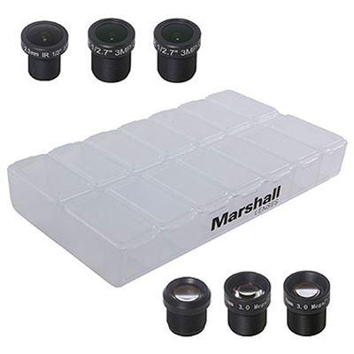 Marshall 2.3mm, 2.8mm, 6mm, 8mm, 12mm + 16mm Lens Pack with Multi Lens Case