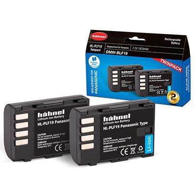 Hahnel HL-PLF19 Battery (Panasonic DMW-BLF19E) - Twin Pack