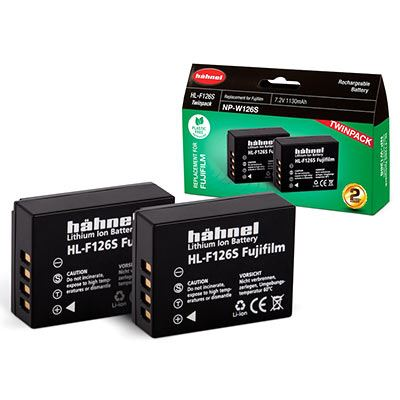 Hahnel HL-F126S Battery (Fujifilm NP-W126S) - Twin Pack