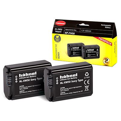 Hahnel HL-XW50 Battery (Sony NP-FW50) - Twin Pack