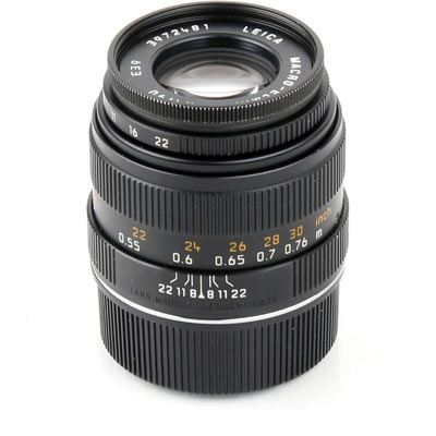 Used Leica Macro-Elmar-M 90mm f/4 - Black Lens