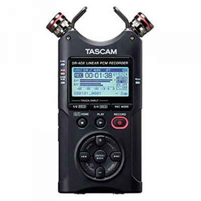 Tascam DR-40X Portable 4-Track Audio Recorder