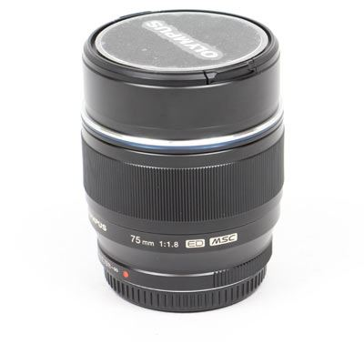Used Olympus 75mm f1.8 M.ZUIKO Digital ED Lens - Black