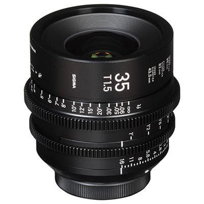 Sigma Cine 35mm T1.5 FF Lens Fully Luminous - Sony Mount