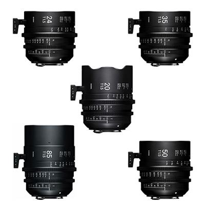 Image of Sigma Cine FF High Speed 5 Prime Kit - Canon Mount