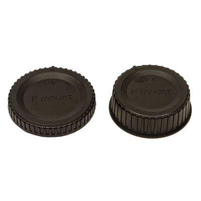 JJC Rear Lens Cap / Body Cap Combo - Nikon Fit