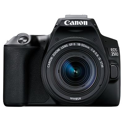 Image of Canon EOS 250D Digital SLR Camera with 18-55mm IS STM Lens - Black